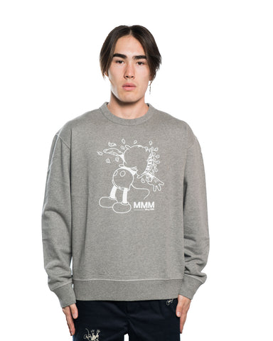 Wood Wood x Disney Hugo Crewneck Grey