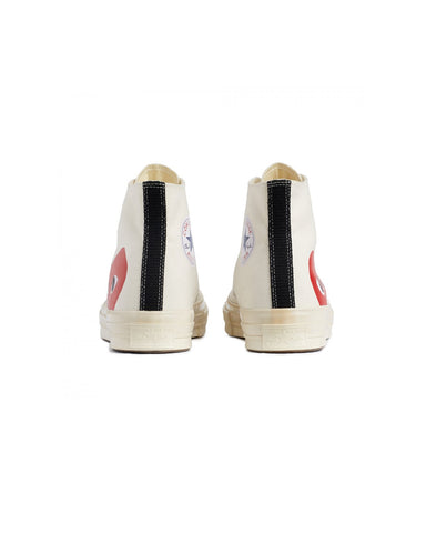 CDG PLAY x Converse CT70 Big Heart High Top White