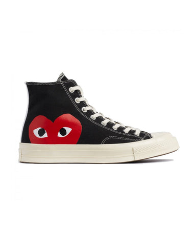 CDG PLAY x Converse CT70 Big Heart High Top Black
