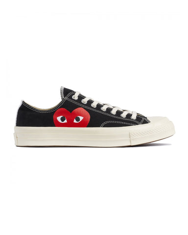CDG PLAY x Converse CT70 Big Heart Low Top Black