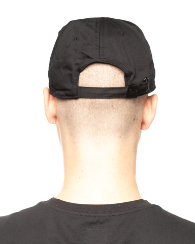 C.P. Company Gabardine Embroidered Logo Hat Black