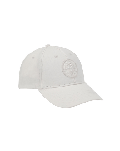 Stone Island Compass 6 Panel Hat White