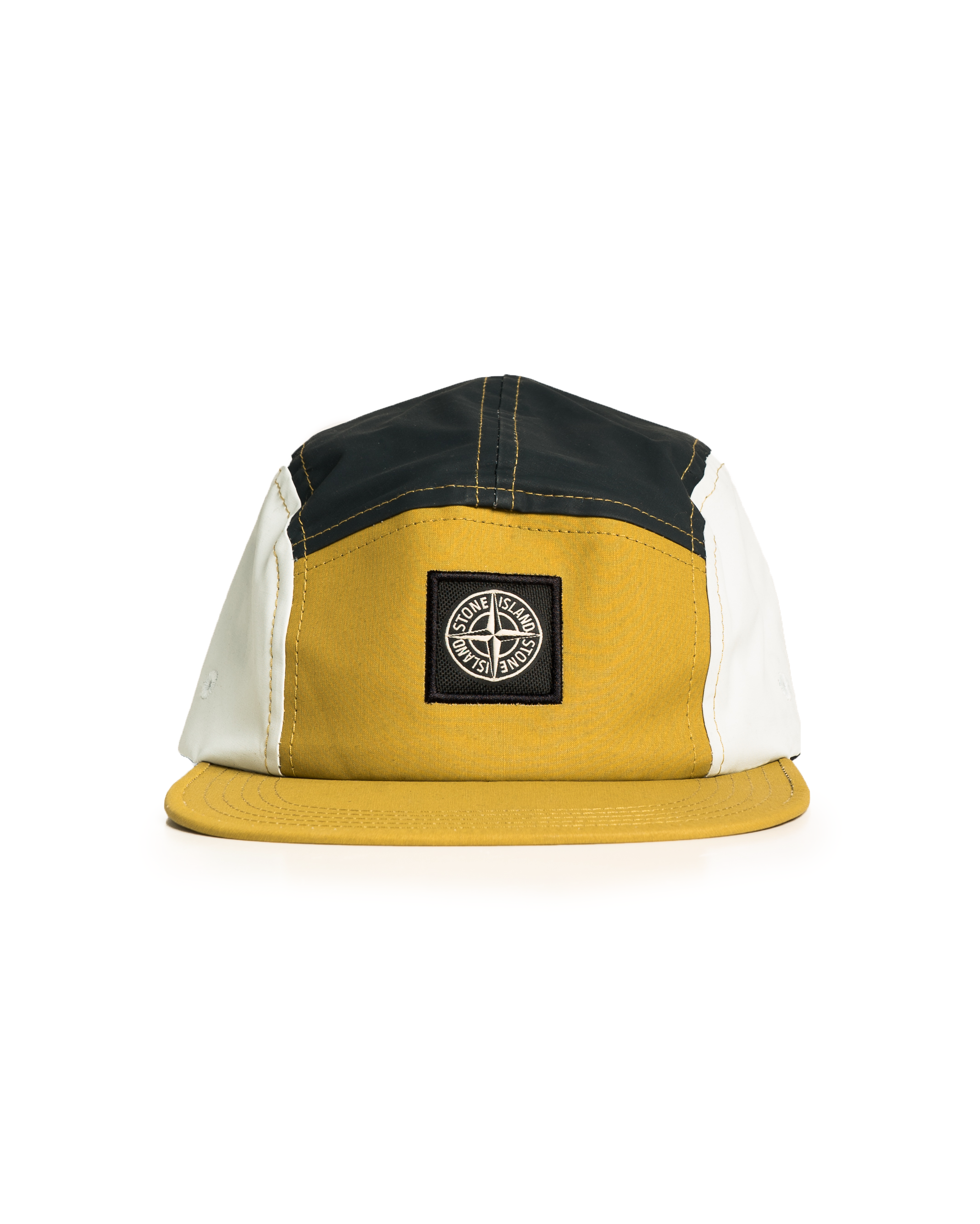 Stone Island 5 Panel Nylon Cap Mustard/Yellow