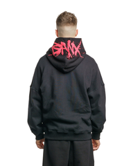 BANX Charged Hoodie Black/Red