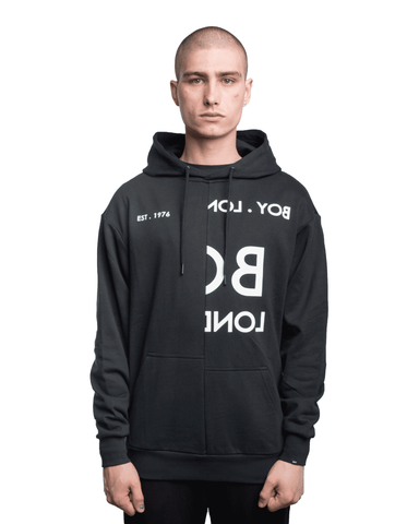Boy London Typo Embroidered Hoodie Black