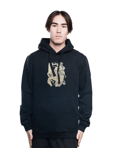 Maharishi Dragons Journey Hoodie Black