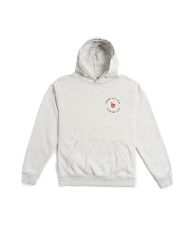 Sporty and Rich Big Apple Hoodie Heather Grey