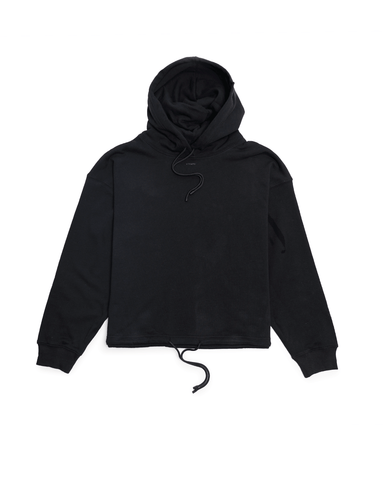 Stampd Oversized Cropped Hoodie Black