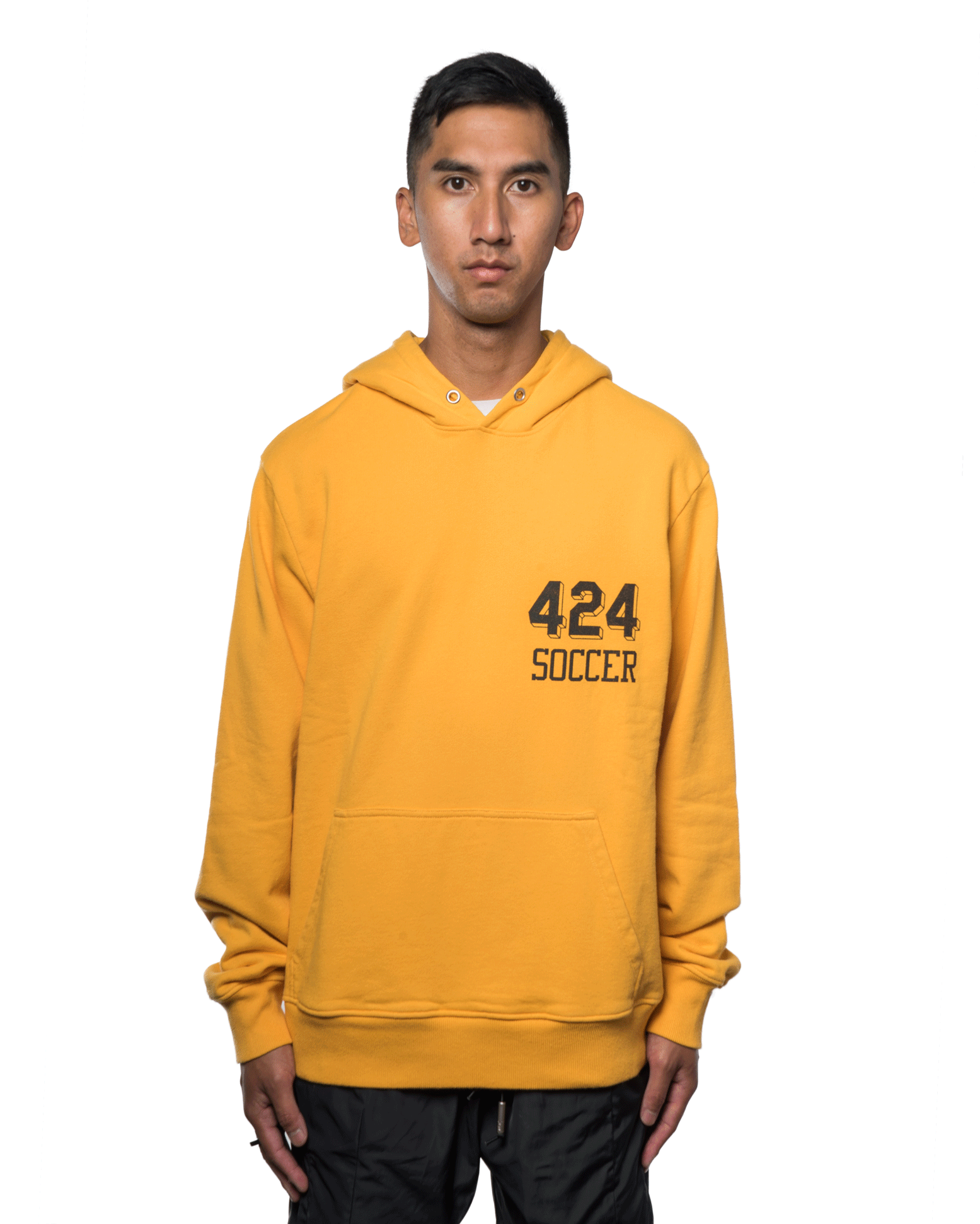 424 Soccer Hooded Sweatshirt Yellow