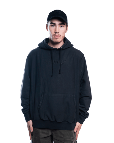 Awake NY Embroidered Logo Hoodie Black
