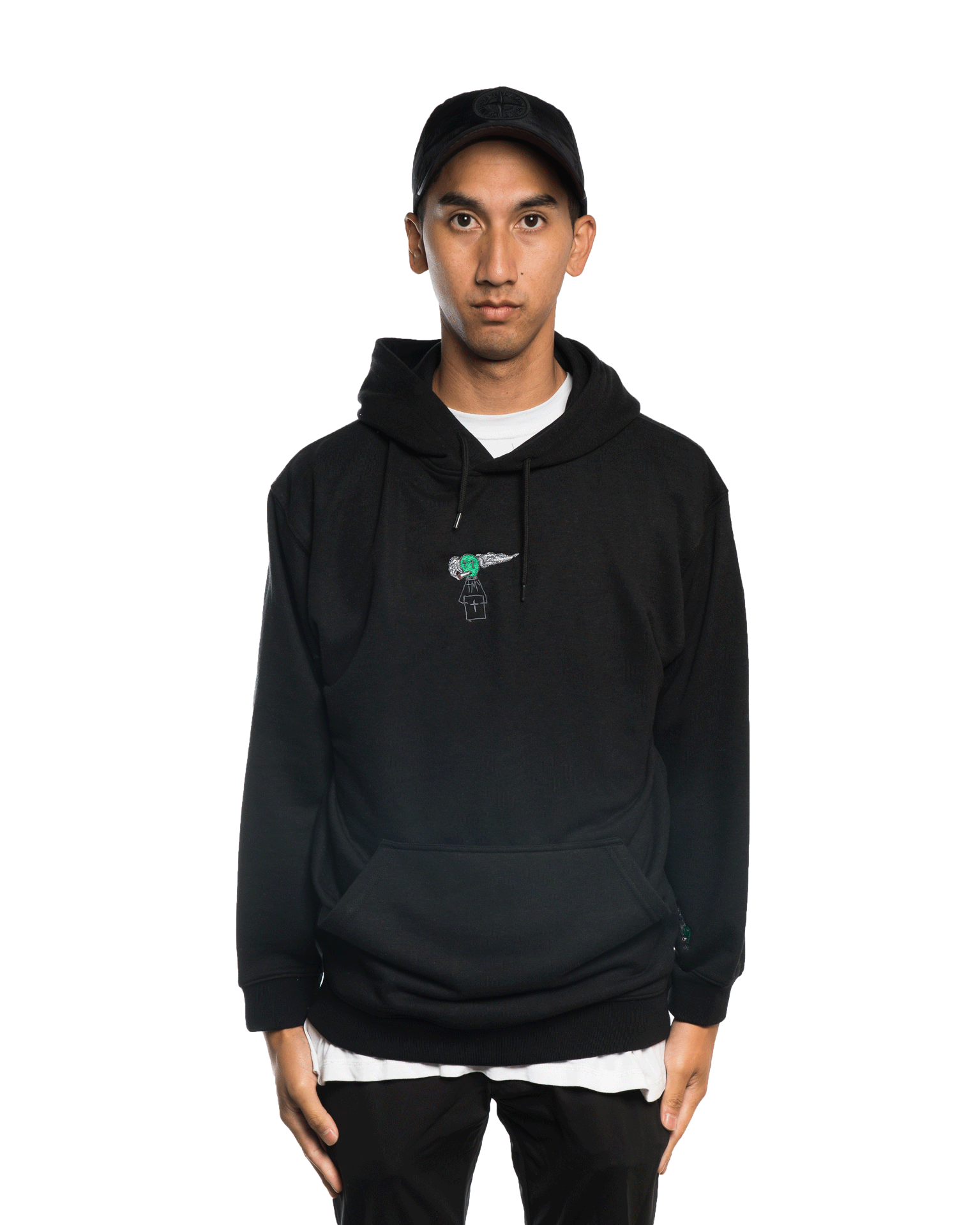 Come To My Church Alien Logo Hoodie Black