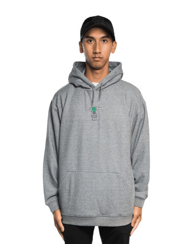 Come To My Church Alien Logo Hoodie Grey