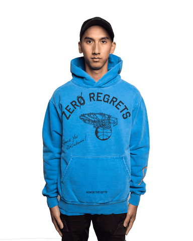 Honor The Gift Zero Regrets Hoodie Blue