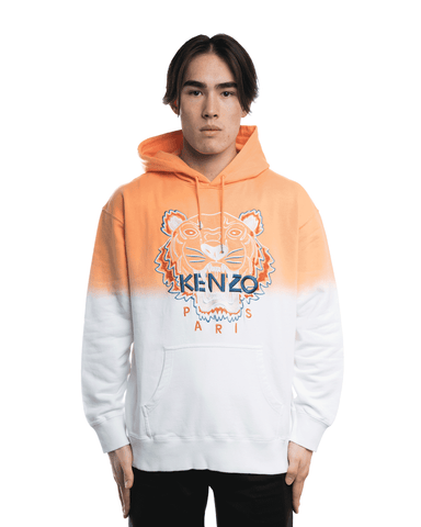 Kenzo Tiger Embroidered Hoodie Orange