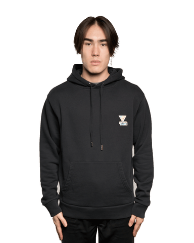 Maison Kitsuné Rainbow Triangle Fox Patch Hoodie Black