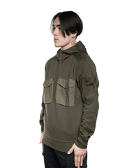 Stone Island MO7215636F3 Front Pockets Ghost Hoodie Olive