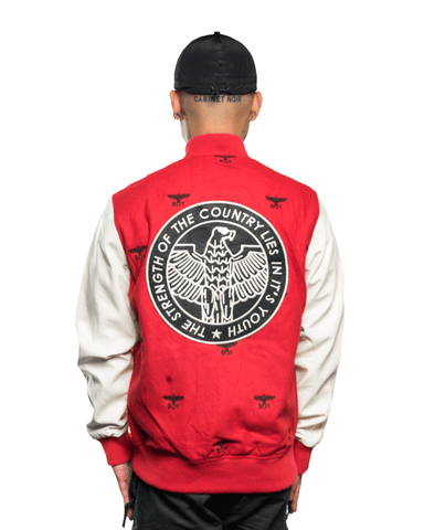 Boy London Repeat Varsity Jacket Red