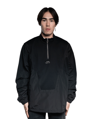 Stampd Mist Mix Pullover Jacket Black