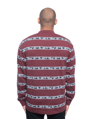 Insomniac LTD Eye Stripe LS Tee Eggplant