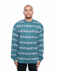 Insomniac LTD Eye Stripe LS Tee Jade