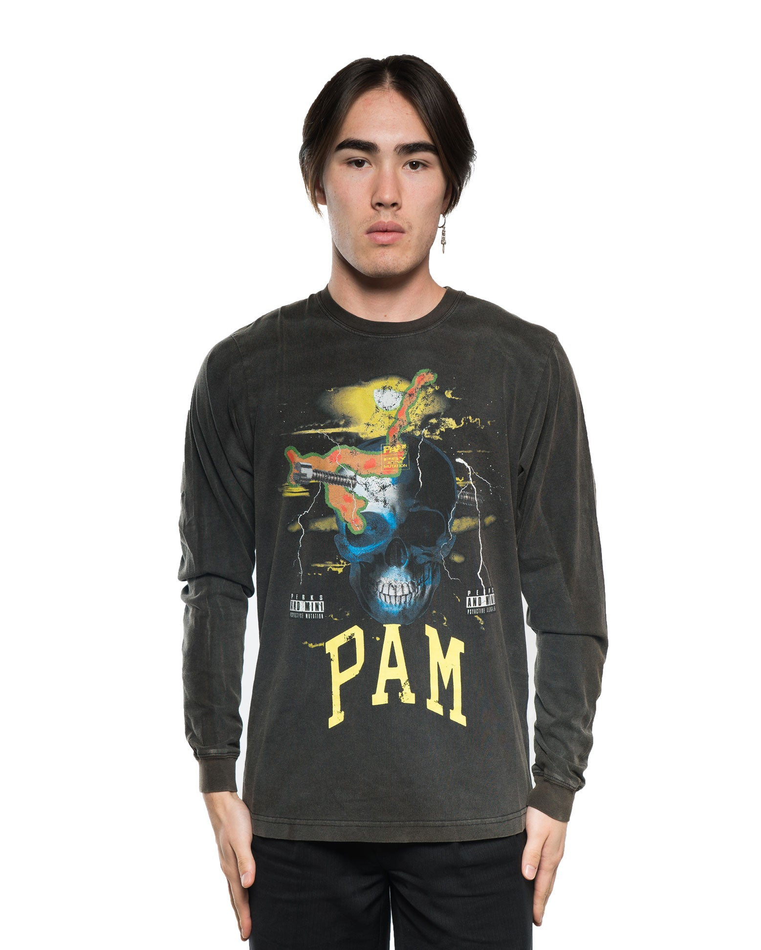 P.A.M On Your Mind LS Tee Black