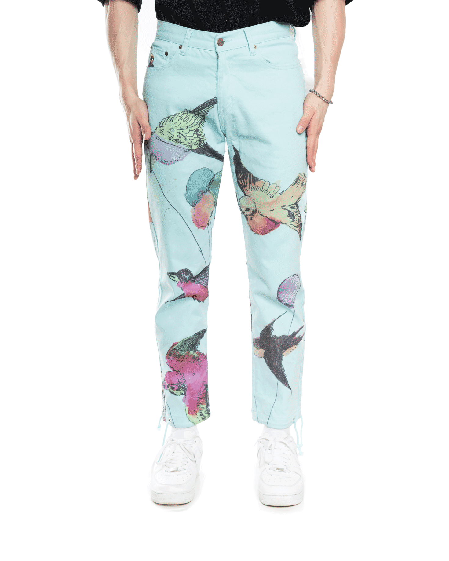 KidSuper Watercolour Bird Pant Blue