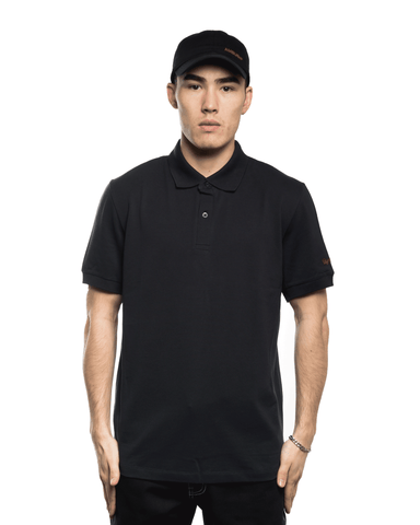 Raf Simons x Fred Perry Embroidered Sleeve Polo Shirt Navy