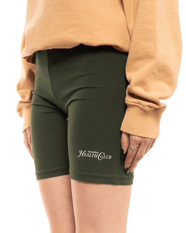 Sporty and Rich Biker Shorts Forrest Green