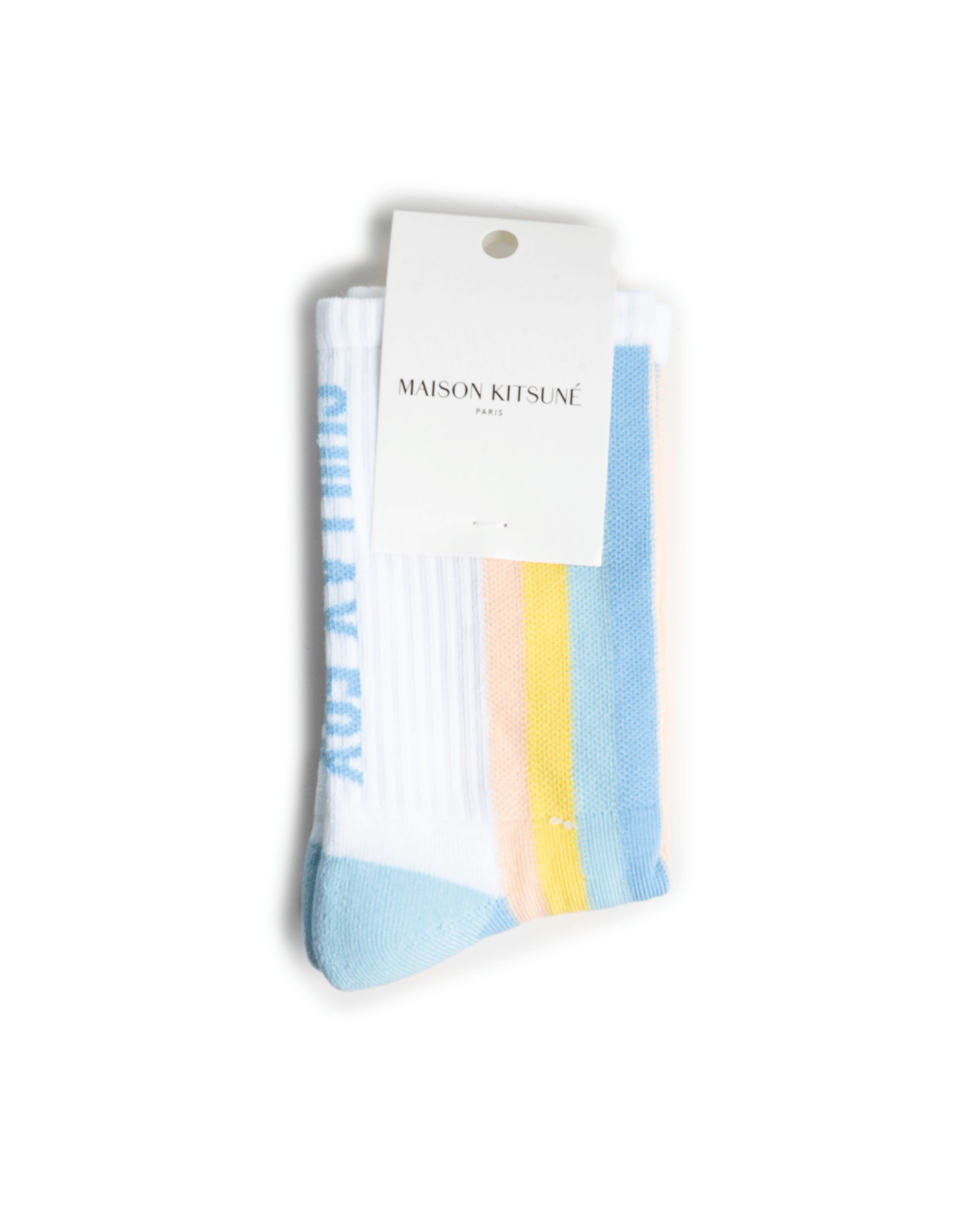Maison Kitsuné Striped Sporty Socks Pastel Stripes