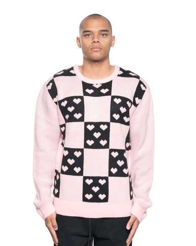 Noon Goons Lovers Sweater Pink/Black