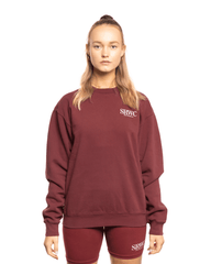 Sporty and Rich Upper East Side Crewneck Merlot
