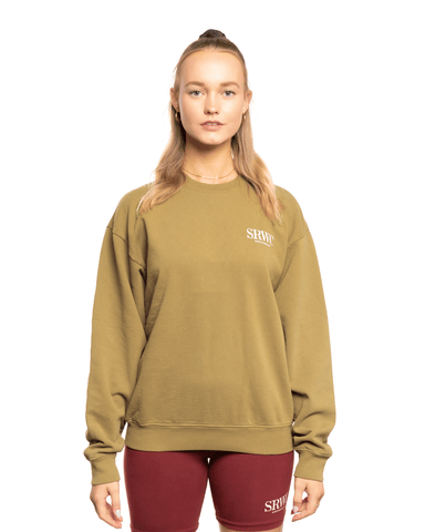 Sporty and Rich Upper East Side Crewneck Olive