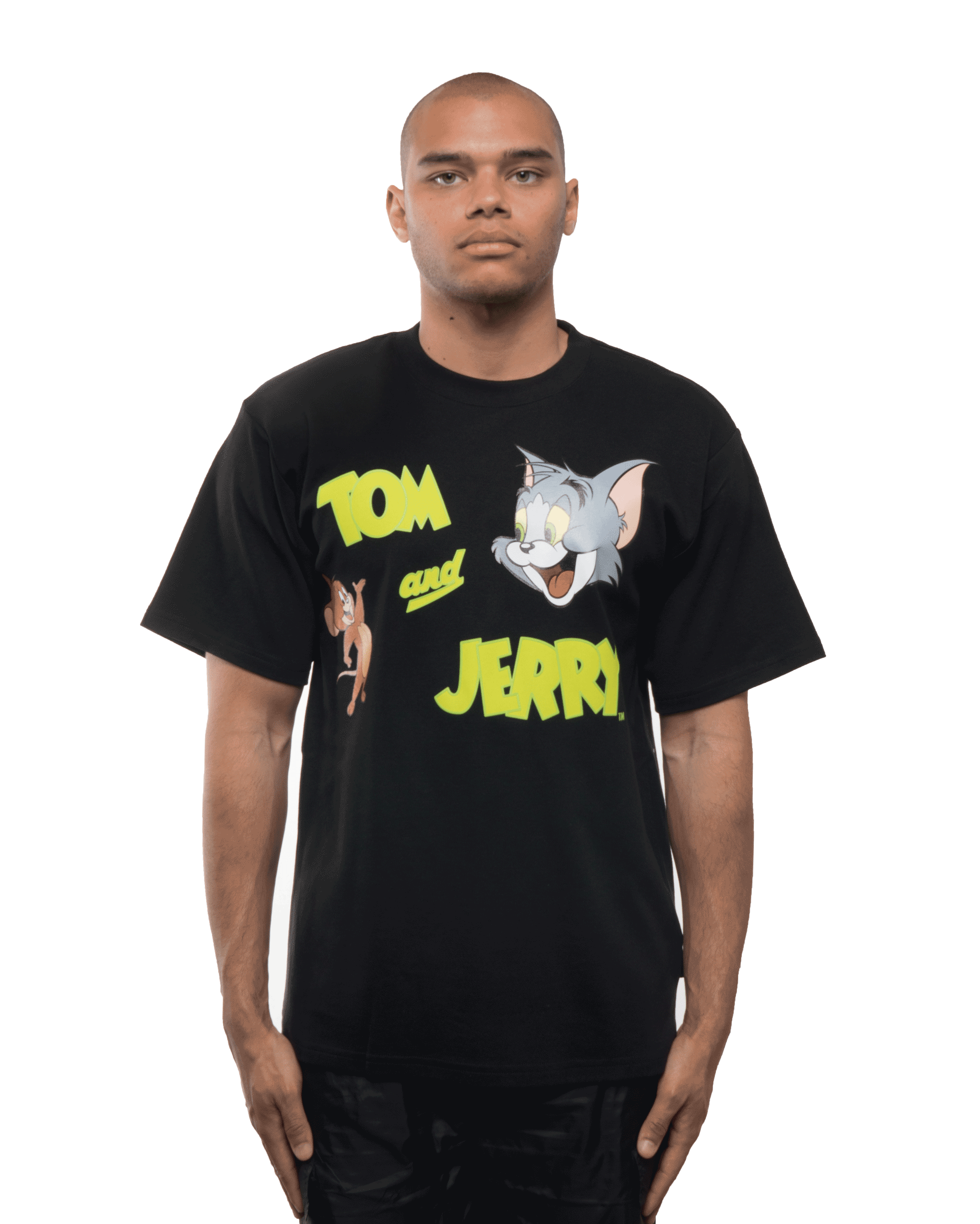 GCDS x Tom and Jerry Tee Black