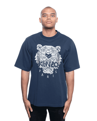 Kenzo Embroidered Tiger Tee Navy