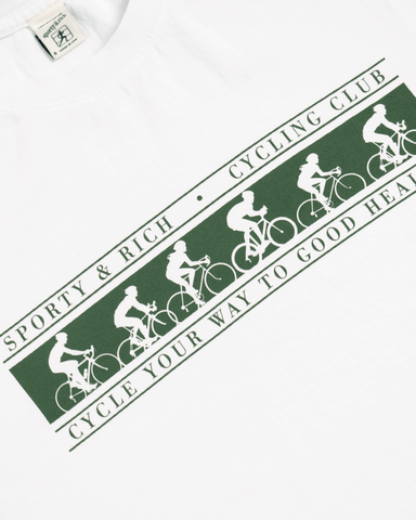 Sporty & Rich Cycling Club Tee White