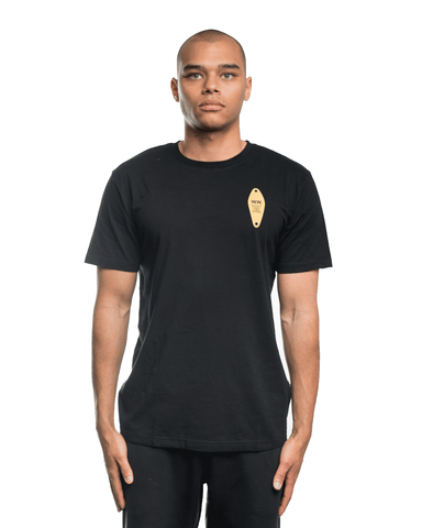 Wood Wood Tackle Tee Black