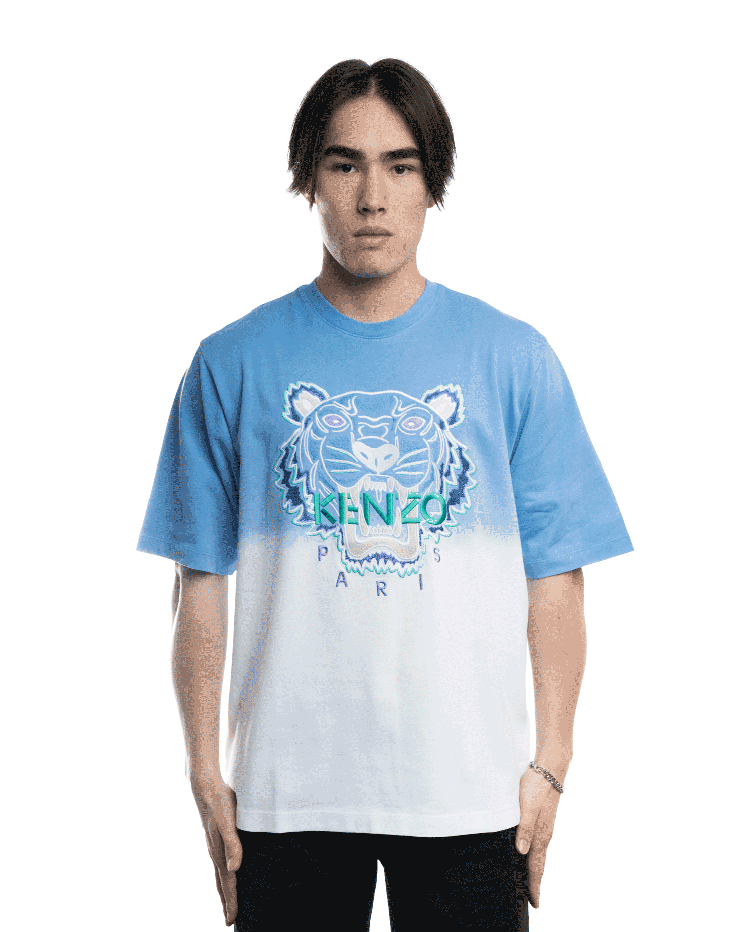 Kenzo Tiger Embroidered Tee Lavender