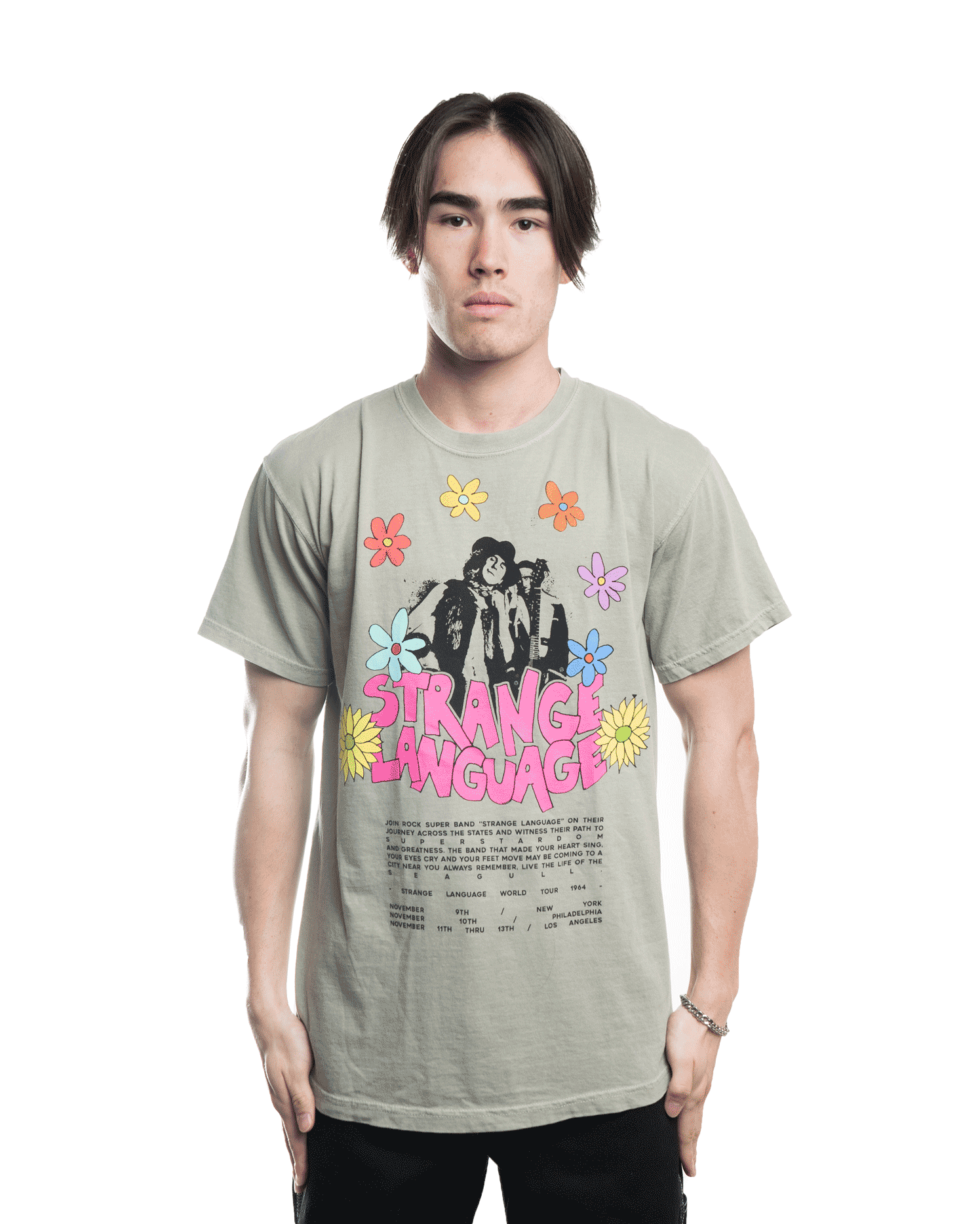 KidSuper Strange Language Tee Cream