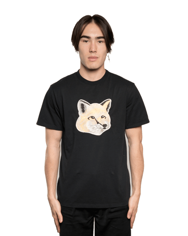 Maison Kitsuné Pastel Fox Head Embroidery Tee Black