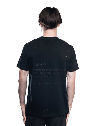 RtA FLAGRANT LIAM Tee Black