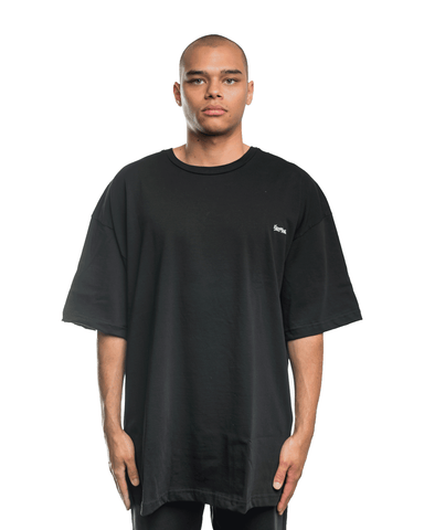 Selfmade Embroidered Back Patch Tee Black