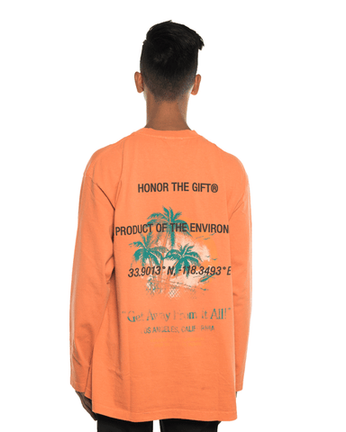 Honor The Gift Pardise LS Tee Tangerine