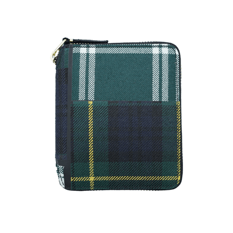 SA2100TP Wallet Tartan Patchwork Green