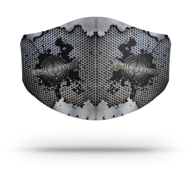 EXTREME D15 FILTRATION TRIPLE LAYER FACE MASK - GRUNDGE METAL EDITION