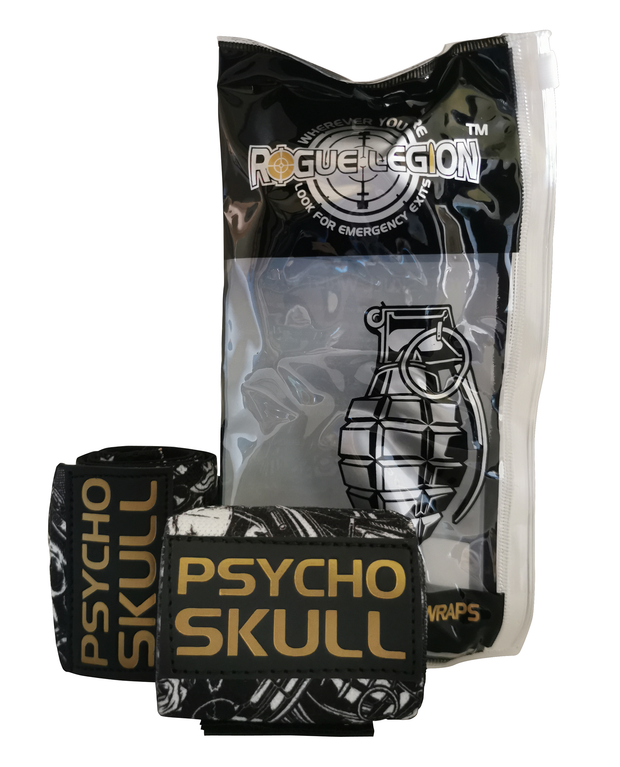 "ROGUE LEGION 18"" WRIST WRAPS - PSYCHO SKULL EDITION"