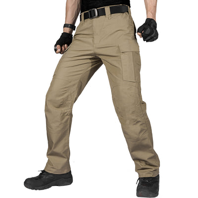 FREE SOLDIER Men's Water Resistant Pants Relaxed Fit Tactical Combat Army Cargo with Multi Pocket