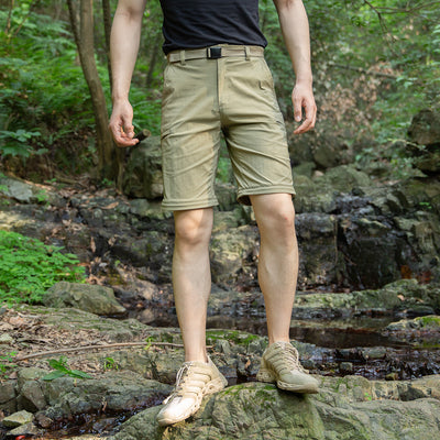 FREE SOLDIER Men's Convertible Hiking Cargo Pants Outdoor Lightweight Quick Dry Pants Water Resistant UPF 50+