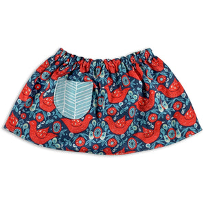 Red Birds Reversible Skirt