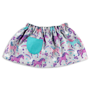 Unicorns and Rainbows Reversible Skirt