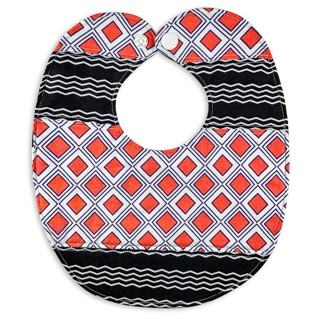 What's Black & White & Coral All Over? Bib